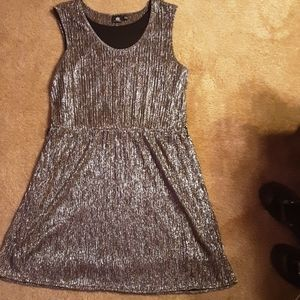 Rock & Republic shiny silver metallic dress